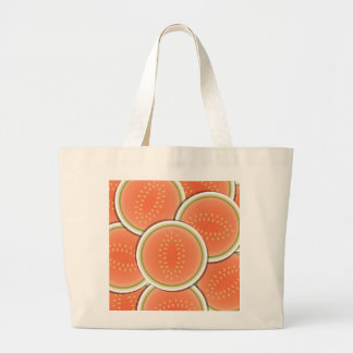 Funky melons large tote bag