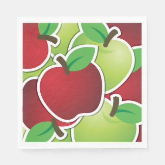 Funky mixed apples paper napkin