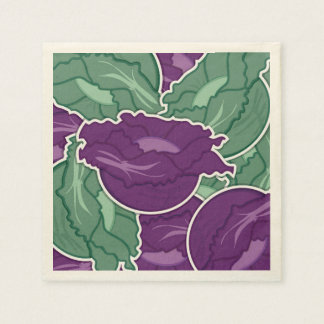 Funky mixed cabbage disposable napkins
