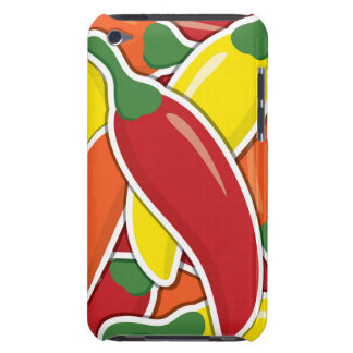 Funky mixed chilli peppers barely there iPod cases