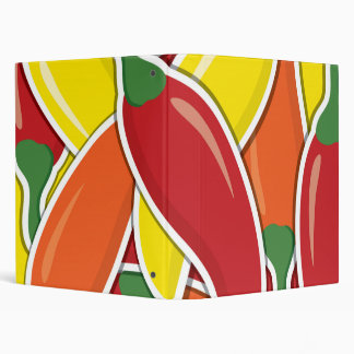 Funky mixed chilli peppers binder