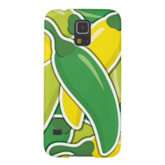 Funky mixed chilli peppers galaxy s5 covers