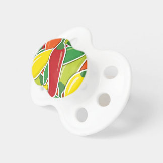 Funky mixed chilli peppers pacifier