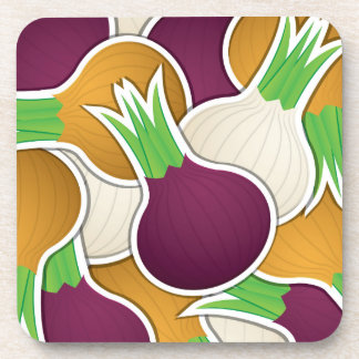 Funky mixed onions coaster