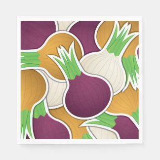 Funky mixed onions disposable napkins