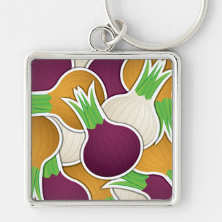 Funky mixed onions keychain