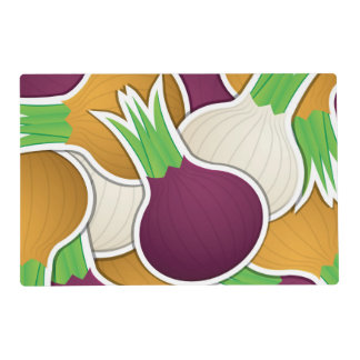 Funky mixed onions laminated placemat