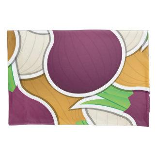 Funky mixed onions pillowcase