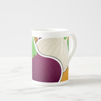 Funky mixed onions tea cup