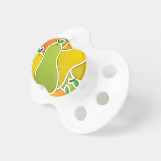Funky mixed pear pacifiers