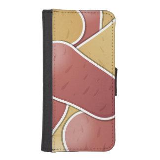 Funky mixed potato phone wallet
