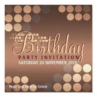 Funky Mocha Latte Party Birthday Invitation