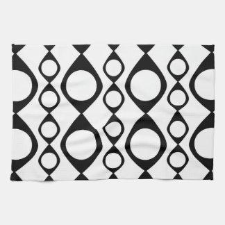 Funky MOD Retro Black & White Pattern Kitchen Towel