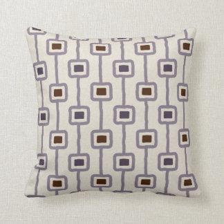 Funky Mod Squares in Purple Plum Mauve Throw Pillow