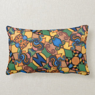 Funky Modern Abstract Pattern Colorful Lumbar Pillow