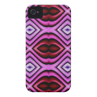 Funky modern Artistic Valentine Lips Pattern iPhone 4 Case-Mate Cases