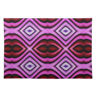 Funky modern Artistic Valentine Lips Pattern Placemat