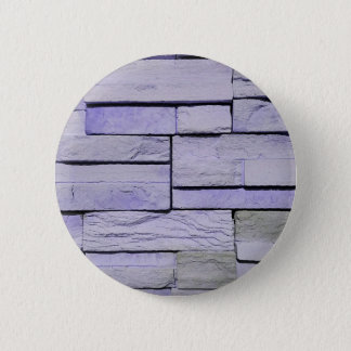 Funky Modern Lavender Stacked Bricks 2 Inch Round Button