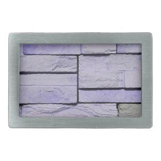 Funky Modern Lavender Stacked Bricks Belt Buckles
