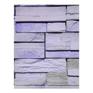 Funky Modern Lavender Stacked Bricks Letterhead