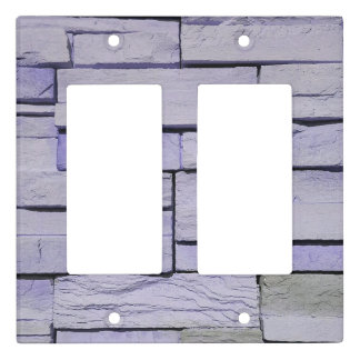 Funky Modern Lavender Stacked Bricks Light Switch Cover