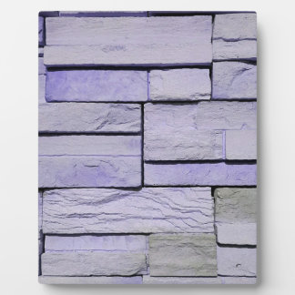 Funky Modern Lavender Stacked Bricks Plaque