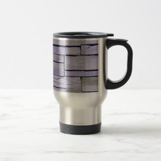 Funky Modern Lavender Stacked Bricks Travel Mug