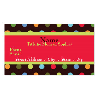 Funky Mom Mommy Card Business Card Template
