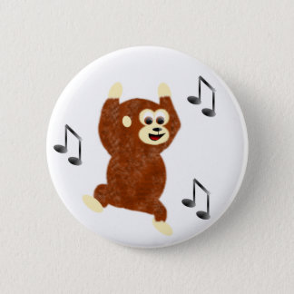 Funky Monkey 2 Inch Round Button