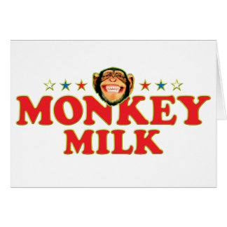 Funky Monkey Milk Card
