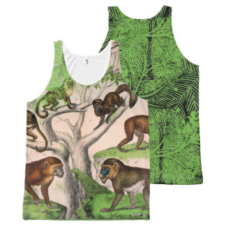 Funky Monkey Unisex All-Over-Print Tank Top