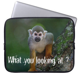 Funky Monkey-  What you looking at ? Laptop Computer Sleeves