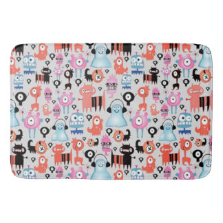Funky Monsters Bath Mat