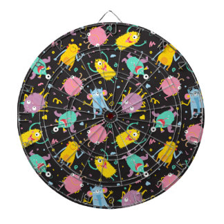 Funky monsters dartboard