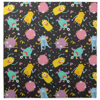 Funky monsters napkin