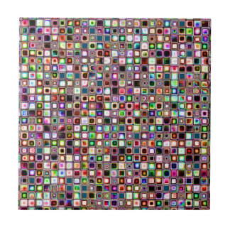 Funky Mosaic Tiles Pattern With Jewel Tones