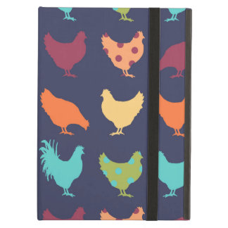 Funky Multi-colored Chicken Pattern iPad Air Case