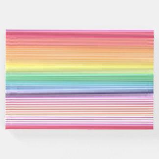 funky multicolour stripe guestbook