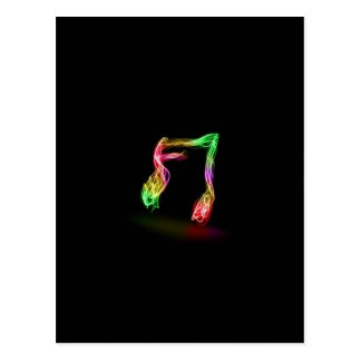 Funky Music Note Postcard