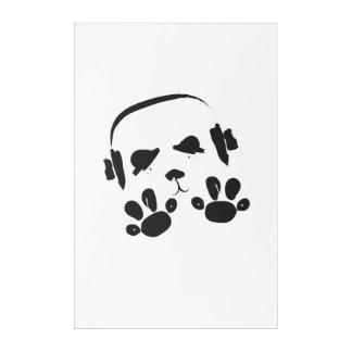 Funky Music Panda Acrylic Wall Art