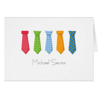 Funky Neckties Note Card
