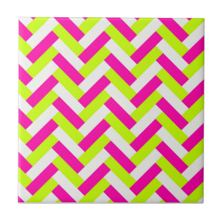 Funky Neon Weaved Zigzag Chevron Andes Tile