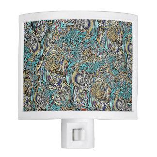 Funky night light multi-colored modern design