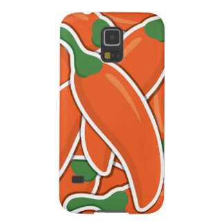 Funky orange chilli peppers case for galaxy s5