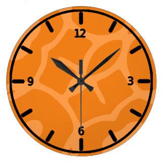 Funky orange clock
