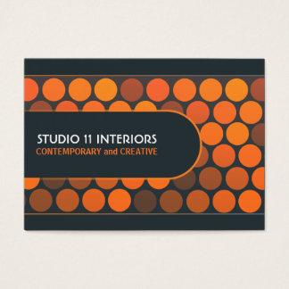 Funky Orange Dots Studio Interior Business Cards