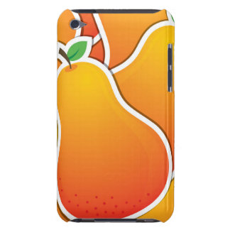 Funky orange pear Case-Mate iPod touch case