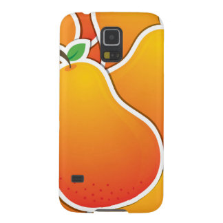Funky orange pear galaxy s5 cases