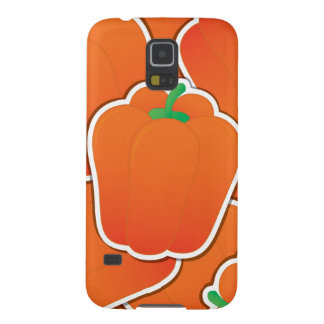 Funky orange pepper galaxy s5 cases