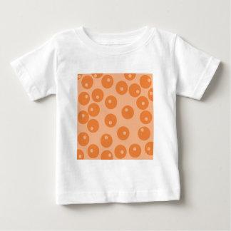 Funky orange retro pattern. baby T-Shirt